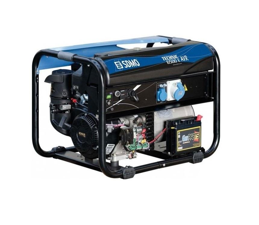 Бензиновый генератор (Бензогенератор) SDMO TECHNIC 6500 E AVR