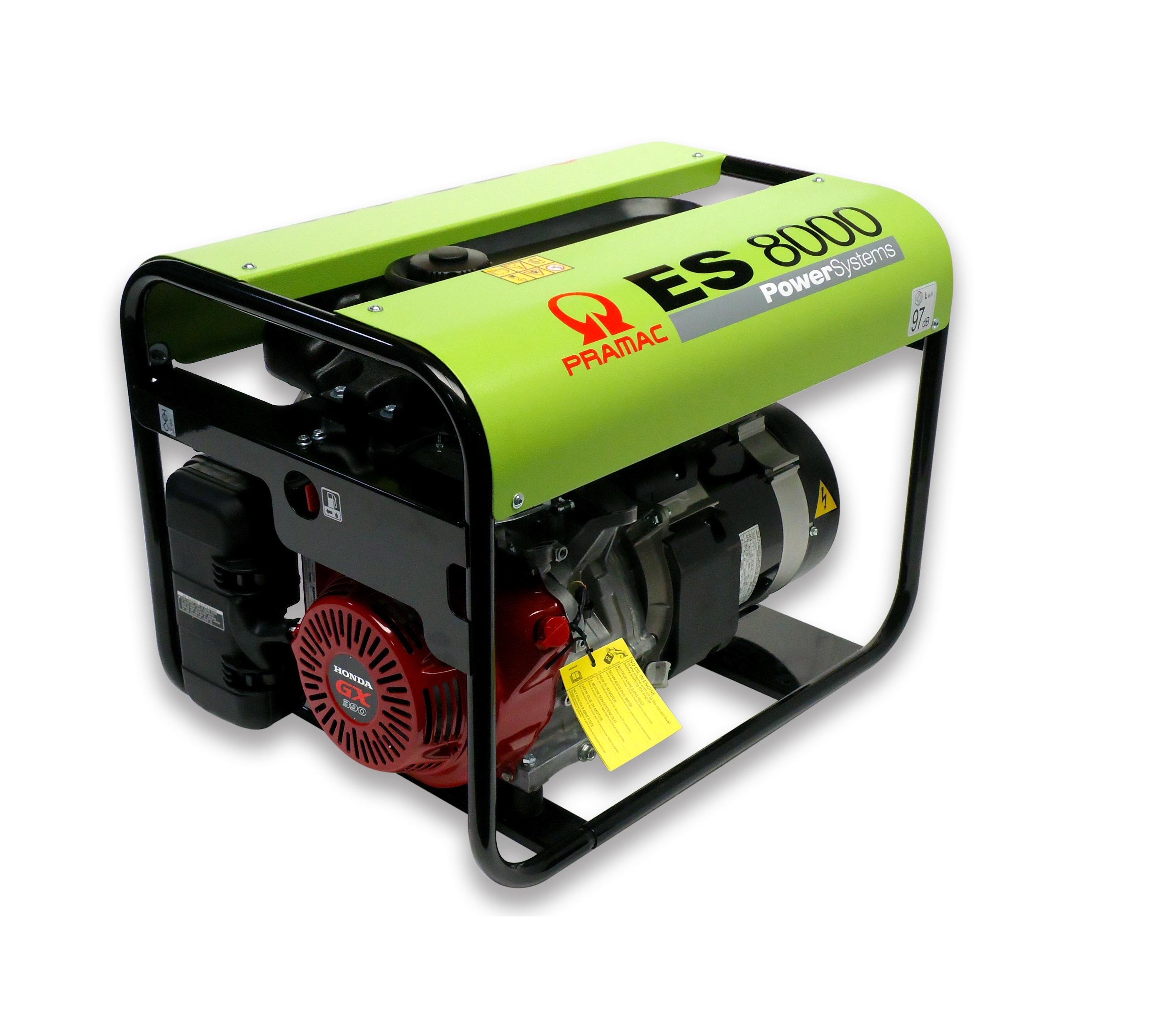 Бензиновый генератор (Бензогенератор) Pramac ES5000, 400/230V, 50Hz