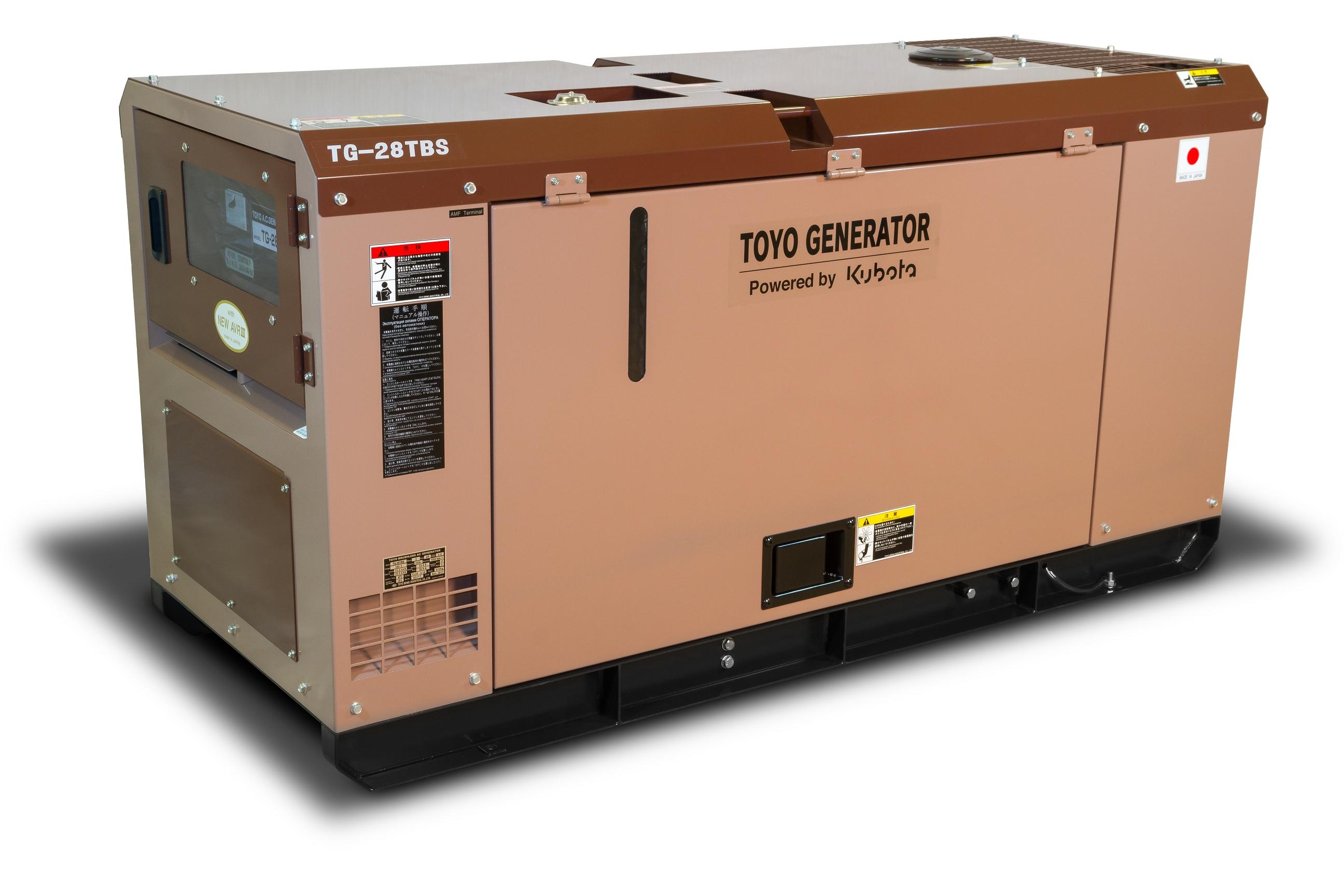 Дизельный генератор (электростанция) TOYO TG-28TBS