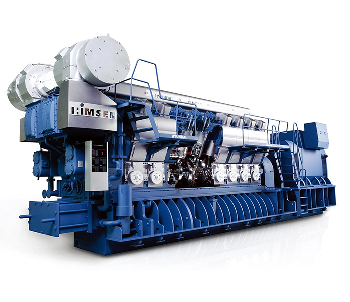 Газопоршневая электростанция (ГПУ) Hyundai HiMSEN 16H35DFV