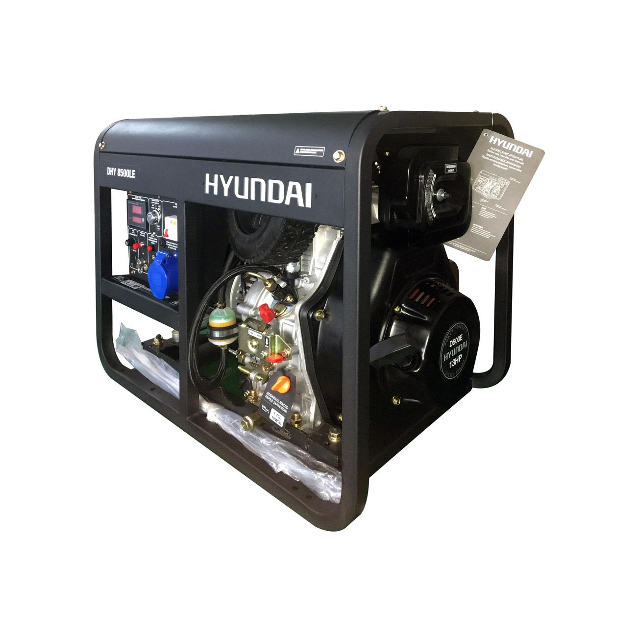 Дизельный генератор (электростанция) Hyundai DHY 8500LE