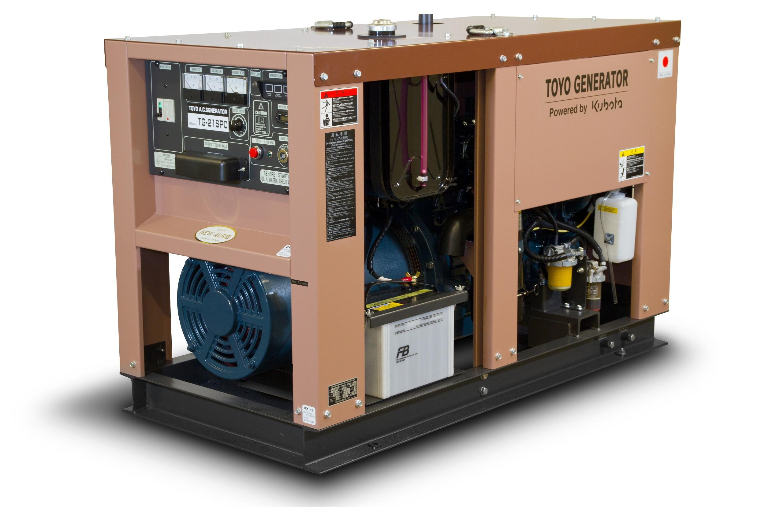 Дизельный генератор (электростанция) TOYO TG-21SPC